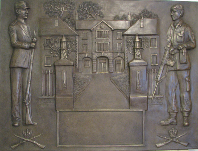 Bronze plaque sculpture of Small Arms school