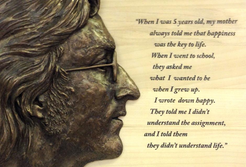 John Lennon Bronze Plaque