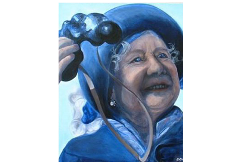 The Queen Mother Oil Canvas