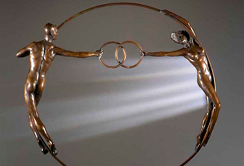 Vesica Pisces – Olympic Bronze Sculpture