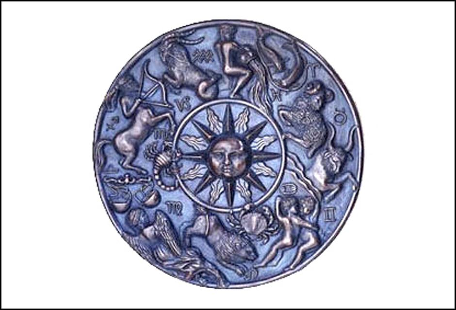 Zodiac Bronze Resin Plaque