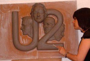 U2 studio work