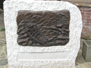 Commemorative bronze Plaque of Life Boat men