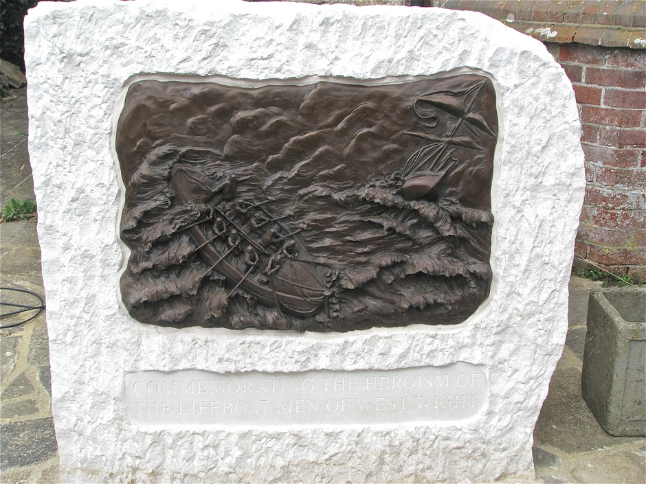 Commemorative bronze Plaque of Life Boat men