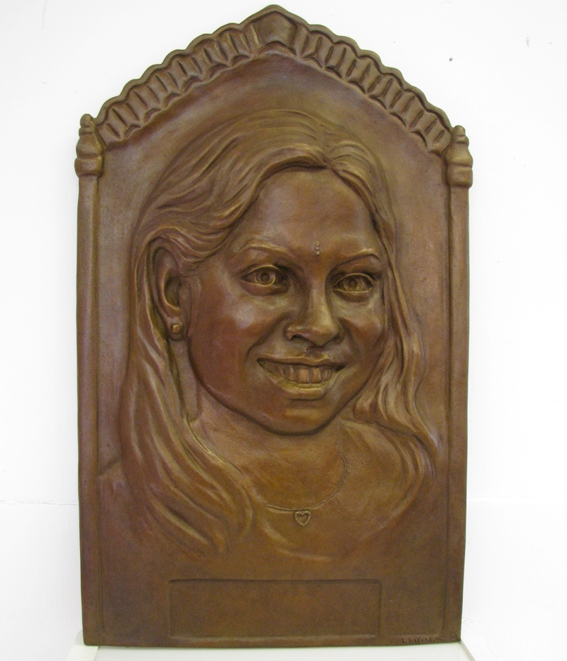 bronze plaque relief of Sonal