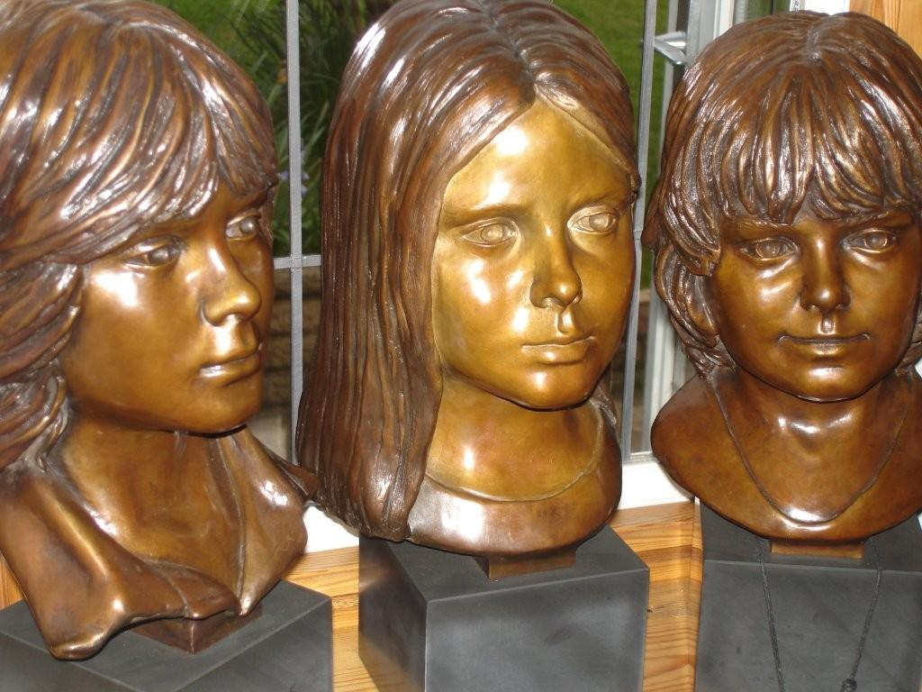 The Yeomans Children in Bronze
