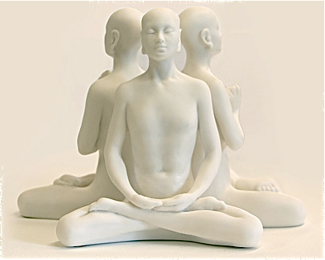 Marble Resin Buddha – 'Prayer' 'Meditation' & 'Knowledge'