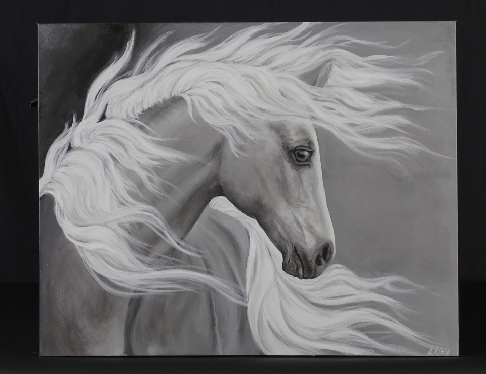 Ghost Horse Painting