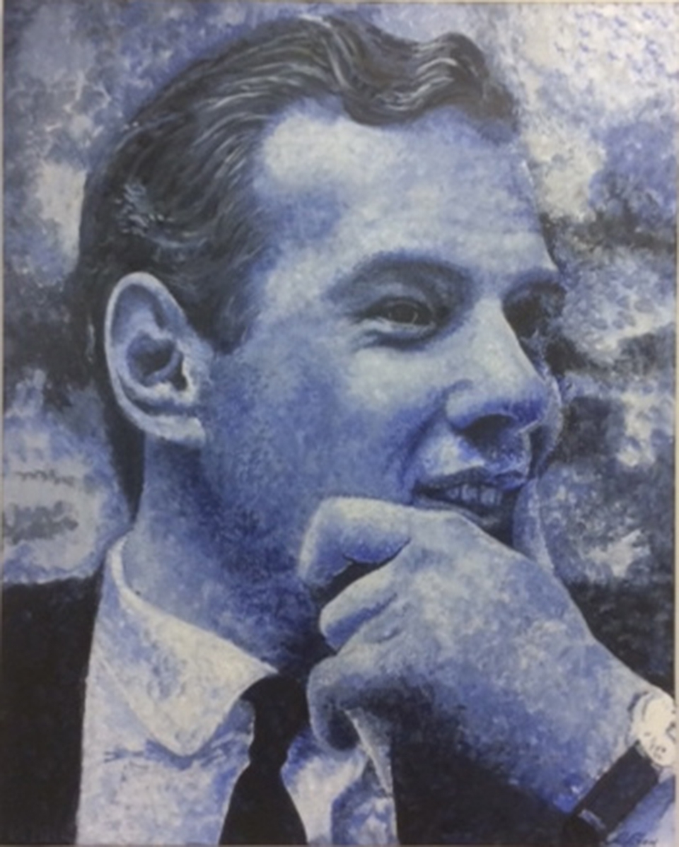 Brian Epstein Portrait painting in Oil