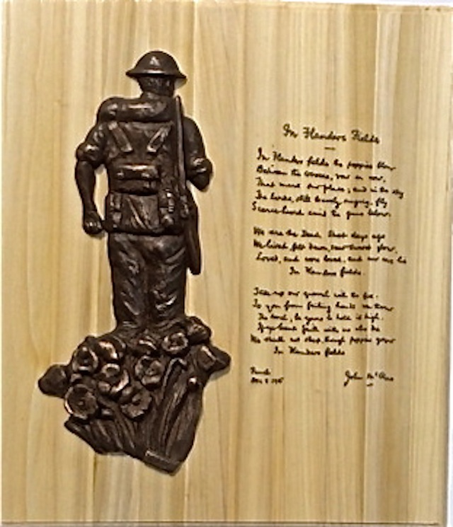 'Unknown Soldier' Bronze Relief Sculpture Plaque – war memorial