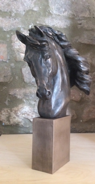 Bronze Horse Head sculpture