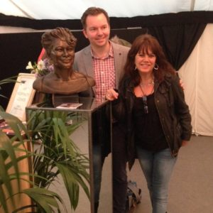 Ella Fitzgerald Portrait sculpture showing at Cheltenham Festival 2015