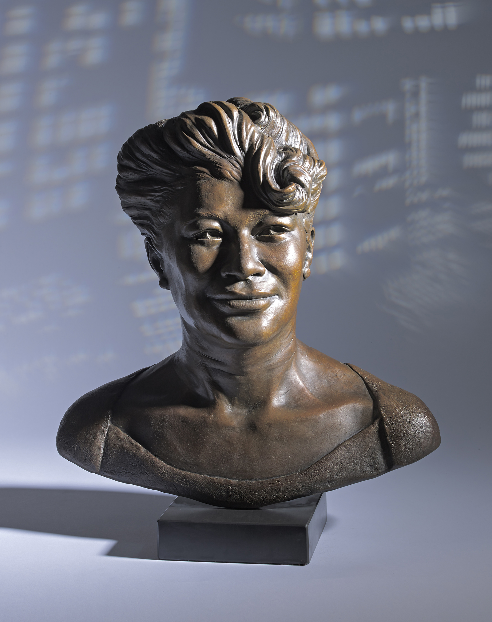 Portrait Bronze Bust of Ella Fitzgerald