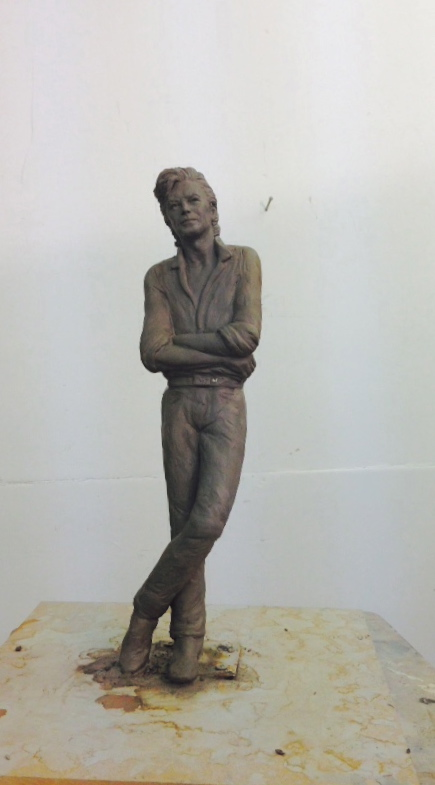 David Bowie Clay for bronze sculpture