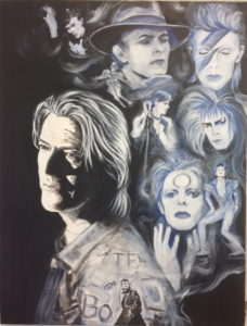 David Bowie Painting . 'Electric Blue'