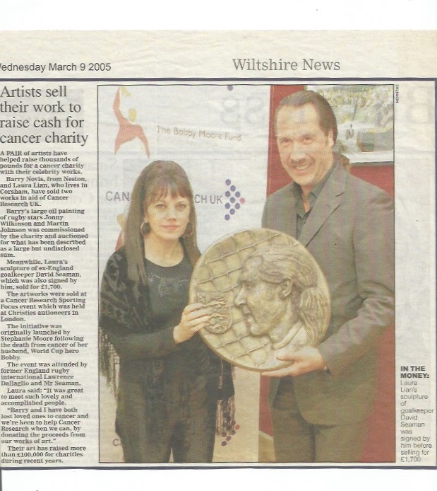 Charity News - David Seaman plaque