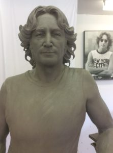 Clay model of John Lennon Close up