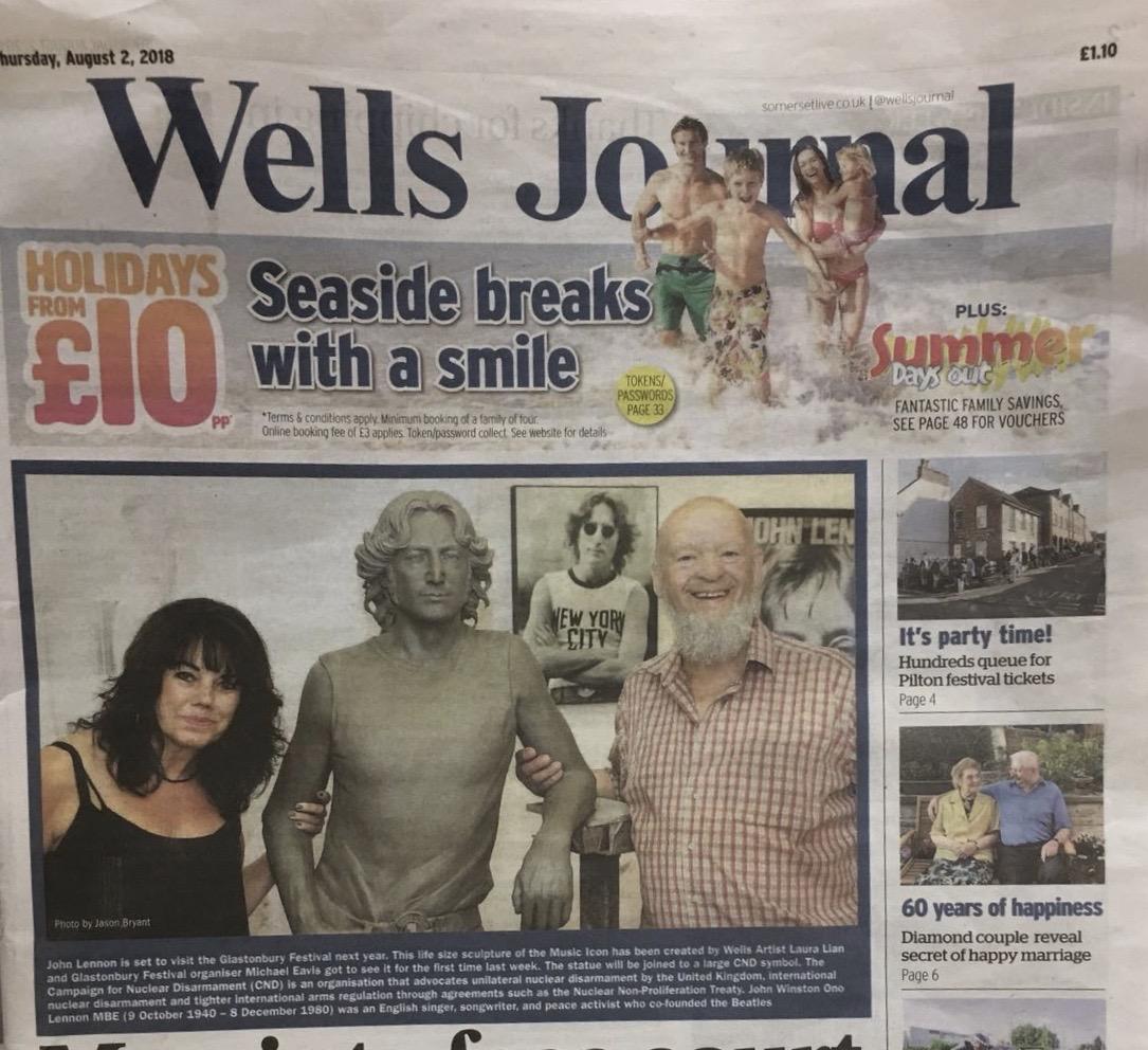 John Lennon Galstonbury Wells Journal