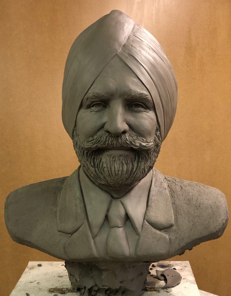 Sculpture portrait of Sikh bust