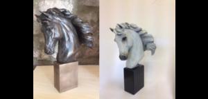 Dual Horse Head Sculpture